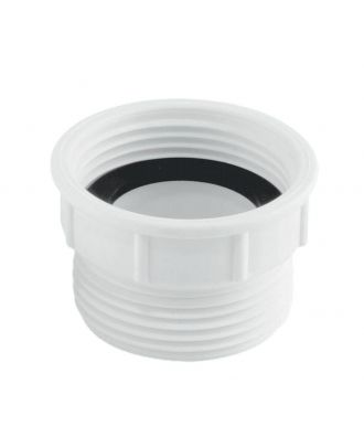 "Mcalpine Flush Spigot 1¼"" Bsp Plumbing Waste Coupling UK & EU White 32mm"