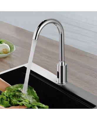 Infrared Sensor Swan Neck Kitchen Sink Tap Chrome