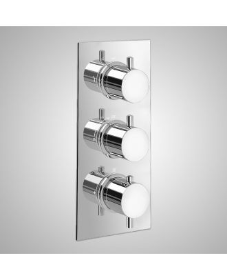 Plum Round Concealed Thermostatic Shower Mixer Set