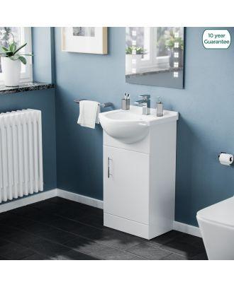 Marovo 450mm Floorstanding FP Vanity Basin Unit White