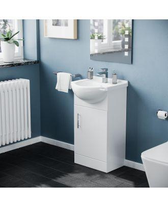 Marovo White 450 mm Small Vanity Storage Unit