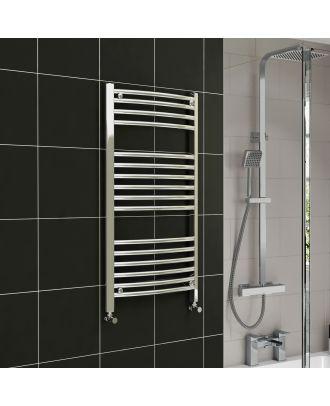 Lois Chrome Curved Ladder Towel Rail Radiator 1000mm x 300mm