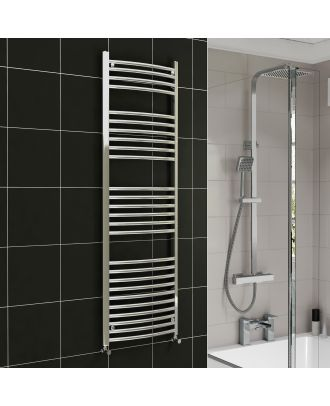Lois Chrome Curved Ladder Towel Rail Radiator 1600mm x 300mm