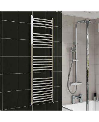 Lois Chrome Curved Ladder Towel Rail Radiator 1600mm x 600mm