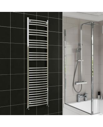 Lois Chrome Curved Ladder Towel Rail Radiator 1800mm x 600mm