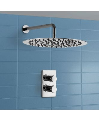 Gill Waterfall Round Thermostatic Control Chrome Shower