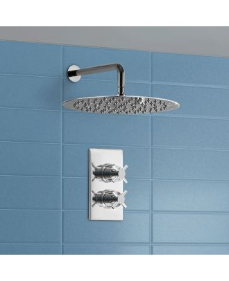 300 mm Ultra Thin Shower Head and Thermostatic Shower Mixer Valve