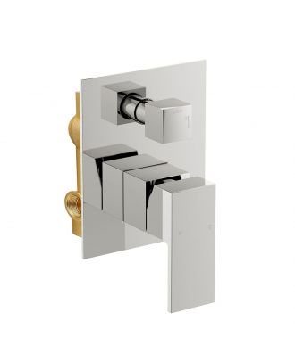 Concealed Shower Mixer with Built-in Diverter - Chrome