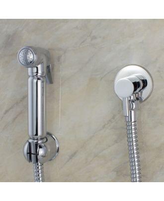 Douche Shattaf Shower Spray Kit Chrome Brass Round