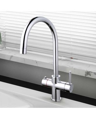 3 In 1 Instant Boiling Water Kitchen Single Lever Tap Chrome