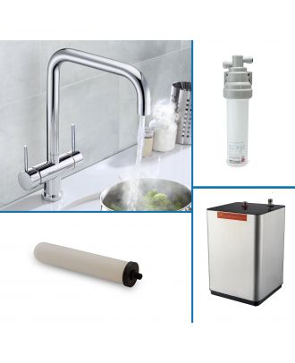 Ether Instant Boiling Water Kitchen Tap Chrome