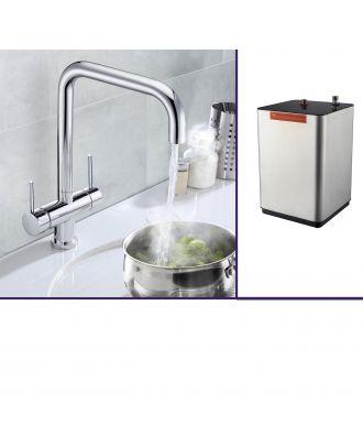 Velarow Instant Hot Water Kitchen Sink Mixer Tap Chrome