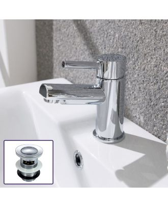 Denis Cloakroom Mono Basin Mixer Tap Including Waste