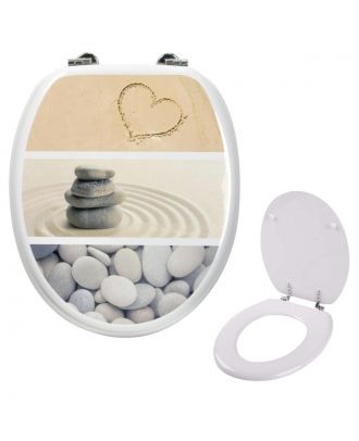 Gorge Universal Novelty Patterned Toilet Seat Oval Shaped Design & Fittings