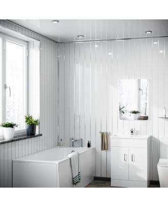 Selona PVC Panel Ceiling Gloss White Cladding 250mm X 2700mm X 5mm