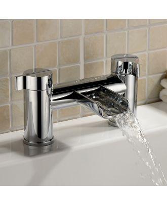 Rena Bathroom Bath Filler Waterfall Tap Chrome