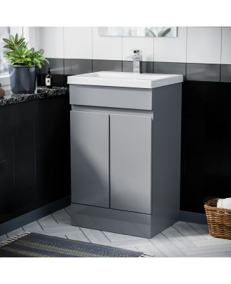 Rizzo 500mm Floorstanding Vanity Basin Unit Light Grey