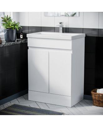 Rizzo 600mm Basin Vanity Unit White