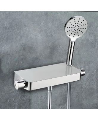 Belton Thermostatic Glass Top Shower Mixer
