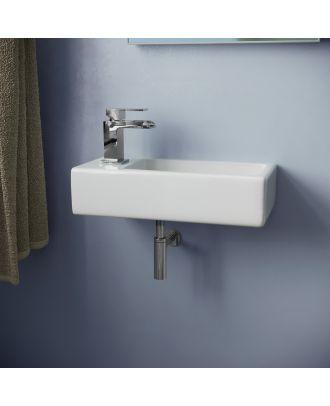 Katrine 370 x 180mm Small Rectangle Cloakroom Wall Hung Basin Sink