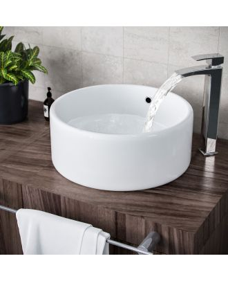Lomond 420mm Countertop Round Basin White