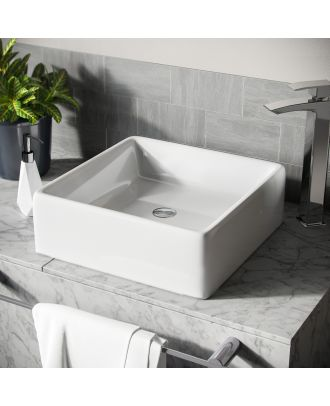 Lomond 385mm Round Countertop Basin White
