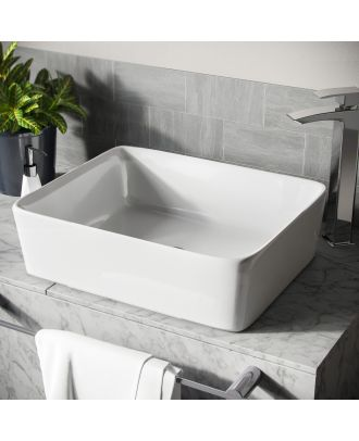 Lomond 485mm Rectangle Countertop Basin White