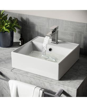 Lomond 385mm Rectangle Countertop Basin White