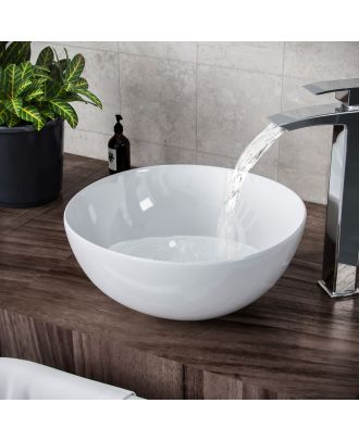 Lomond 320mm Round Countertop Basin White