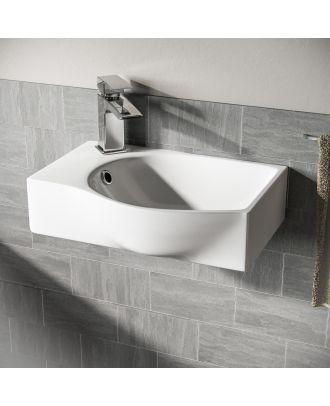 Katrine Wall Hung Rectangle Basin Sink