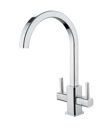 Gordon Twin Handle Kitchen Sink Mixer Chrome