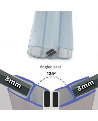 8mm x 2000mm 135�� Magnetic Shower Enclosure Seal Translucent