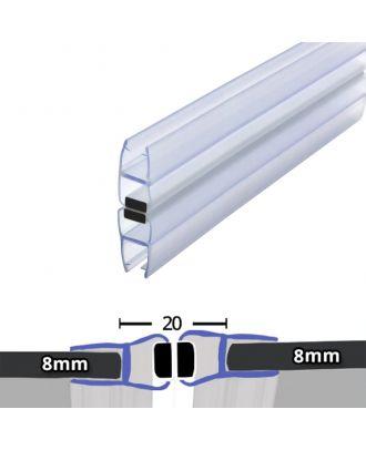 8mm x 2000mm 180�� Magnetic Shower Enclosure Seal Translucent