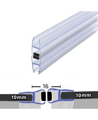 10mm x 2000mm 180�� Magnetic Shower Enclosure Seal Translucent