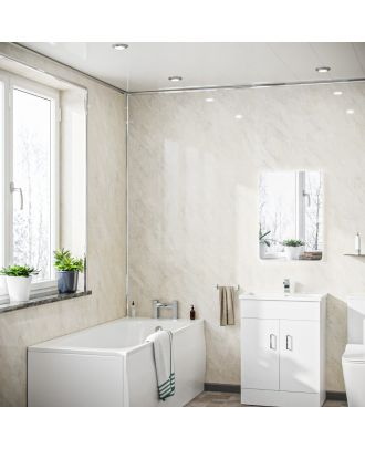 Nevala PVC Panel Ceiling Pergamon Marble Cladding 250mm X 2700mm X 5mm