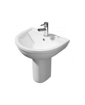 Kartell 450mm Basin & Semi Pedestal White