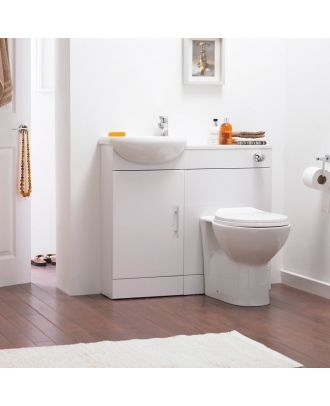 Bracedale Small Basin Vanity Unit and Back to Wall WC Toilet
