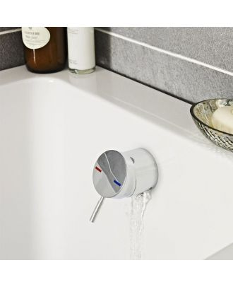 Bath Filler With Control Valve & Sprung Waste + Overflow