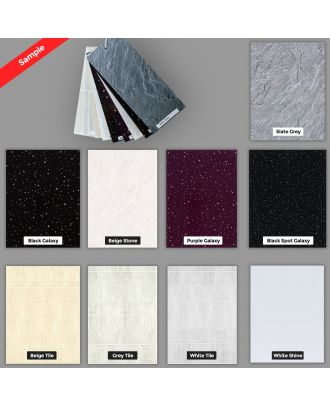 PVC 10 mm Thick Cladding Panel Sample Pack