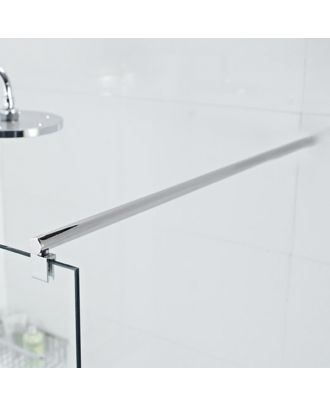 Support Bar for Wet Room Glass Panels - Round