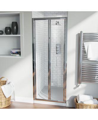 Fazel 760mm Frameless Bi-Fold Shower Enclosure Door