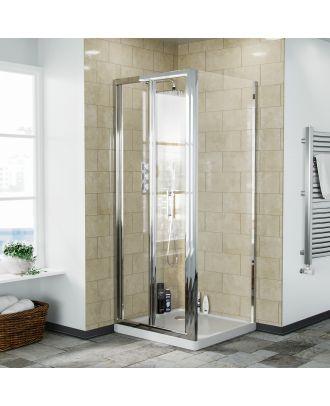 Fazel 760 x 760mm Frameless Bi-Fold Shower Door Enclosure