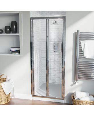 Fazel 800mm Frameless Bi-Fold Shower Enclosure Door