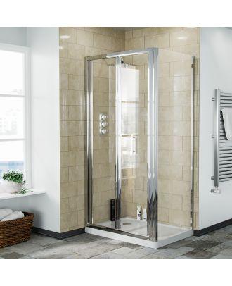 Fazel 900 x 700mm Frameless Bi-Fold Shower Door Enclosure