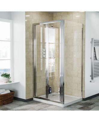 Fazel 800 x 900mm Frameless Bi-Fold Shower Door Enclosure