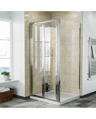 Fazel 760 x 900mm Frameless Bi-Fold Shower Door Enclosure