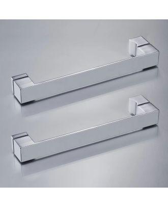 Set of 2 Cube Shower Door Handles Chrome