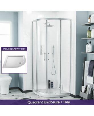 Jupiter Quadrant 800mm Shower Enclosure & Tray