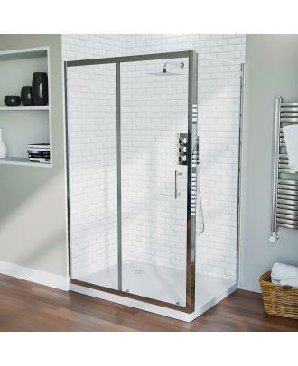 Jupiter Frameless 1200 x 760mm Shower Sliding Door Enclosure