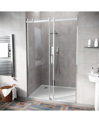 Obadiah 1100mm Frameless Sliding Shower Enclosure Door